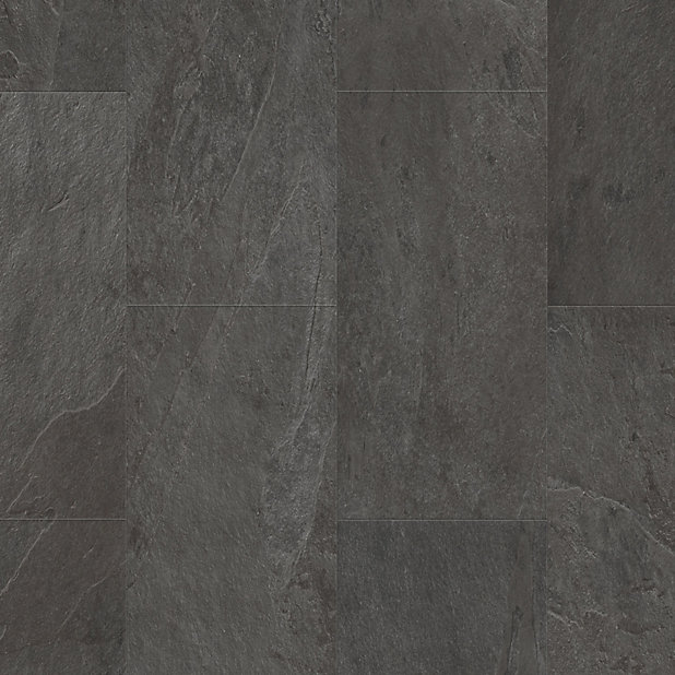 Quick Step Lima Black Slate Effect, Black Slate Waterproof Laminate Flooring