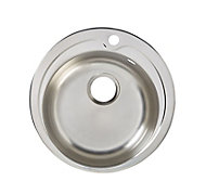 Quimby Polished Inox Stainless steel 1 Bowl Sink