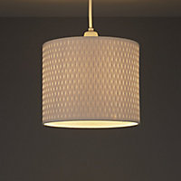 Raffia White Raffie cylinder Light shade (D)210mm