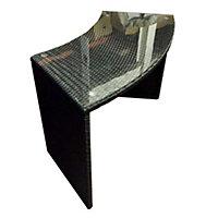 Rattan effect Spa bar Table