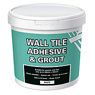 Ready mixed White Wall tile Adhesive & grout, 1kg