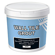 Ready mixed White Wall tile Grout, 1kg Tub