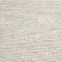 Real tumbled travertine Beige Natural stone Mosaic tile sheet, (L)310mm (W)305mm
