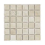 Real tumbled travertine Beige Natural structure 5x5