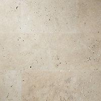 Real Tumbled Travertine Cream Matt Plain Natural stone Wall & floor Tile Sample