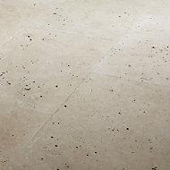 Real Tumbled Travertine Cream Matt Plain Stone effect Natural stone Floor Tile Sample