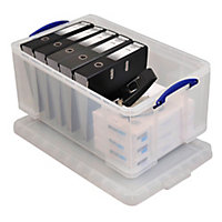 Really Useful Clear 64L Plastic Storage box