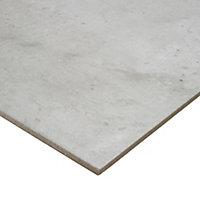 Reclaimed Grey Matt Concrete effect Porcelain Floor tile, Pack of 5, (L)450mm (W)450mm