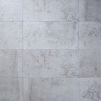 Reclaimed Grey Matt Concrete effect Porcelain Floor Tile Sample