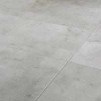 Reclaimed Grey Matt Concrete effect Porcelain Wall & floor Tile, Pack of 5, (L)450mm (W)450mm