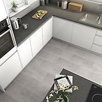 Reclaimed Grey Matt Concrete effect Porcelain Wall & floor Tile Sample
