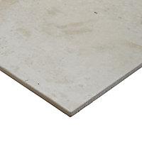 Reclaimed Off white Matt Concrete effect Porcelain Wall & floor Tile Sample