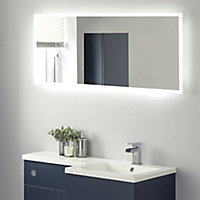 Rectangular Illuminated Bathroom mirror (H)500mm (W)1200mm