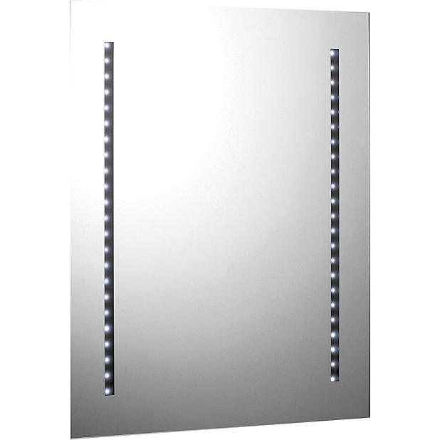 Rectangular Illuminated Bathroom Mirror H 650mm W 500mm Diy At B Q