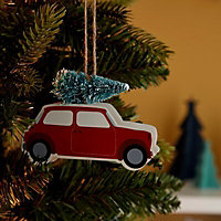 Red Car with tree Decoration