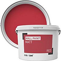 Red Matt Emulsion paint 2.5L