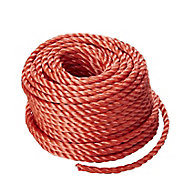 Red Polypropylene (PP) Twisted rope, (L)20m (Dia)6mm