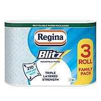 Regina Blitz Blue & white Paper roll, Pack of 3