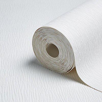 Retford Anaglypta Luxury Hurstwood White Contemporary Bark Textured Wallpaper Diy At B Q