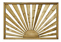 Richard Burbidge Decking Traditional Decorative panel Trellis panel (W)1.13m (H)0.76m