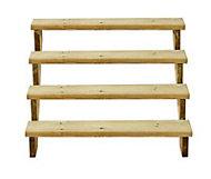 Richard Burbidge Redwood Deck step (W)1066mm (T)40mm, Set of 6