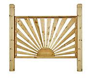 Richard Burbidge Traditional Decorative Pressure treated Trellis panel (W)1.38m (H)1.2m, Set of 3