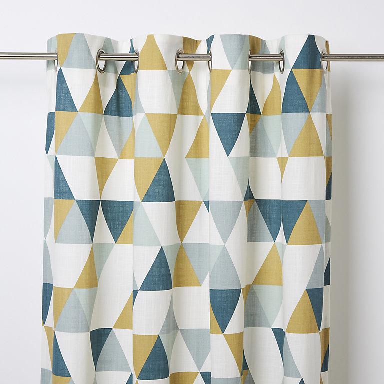 Rima Blue Grey Mustard Triangle