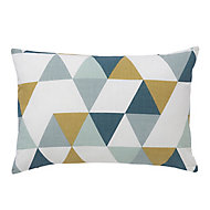 Rima Triangle Multicolour Cushion