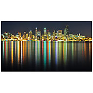 River city Multicolour Canvas art (H)500mm (W)900mm