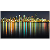 River city Multicolour Canvas art (H)500mm (W)900mm