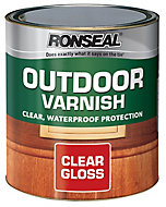 Ronseal Clear Gloss Wood varnish, 0.25L