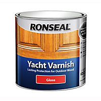 Ronseal Clear Gloss Wood varnish, 1L