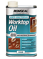 Ronseal Clear Matt Anti-bacterial Worktop oil, 0.5L