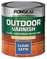 Ronseal Clear Satin Wood varnish, 0.25L