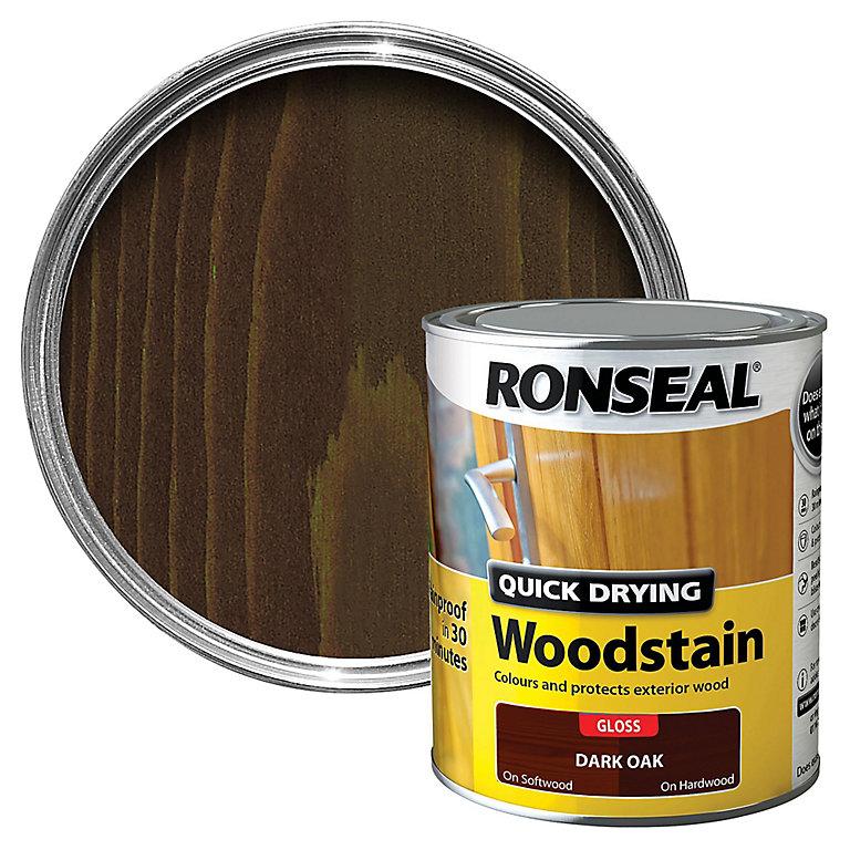 Ronseal Dark Oak Gloss Wood Stain 750ml Diy At B Q