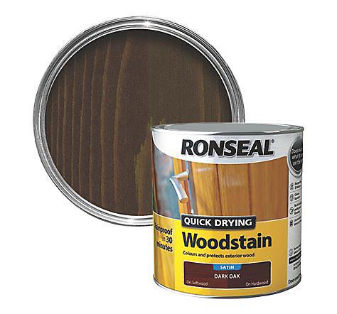 Ronseal Dark Oak Satin Wood Stain 2 5l Diy At B Q