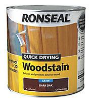 Ronseal Dark oak Satin Wood stain, 2.5