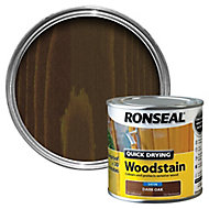Ronseal Dark oak Satin Wood stain, 250ml