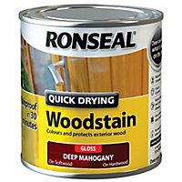 Ronseal Deep mahogany Gloss Wood stain, 0.25L