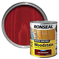Ronseal Deep mahogany Satin Wood stain, 0.75L