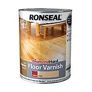 Ronseal Diamond hard Clear Gloss Floor Wood varnish, 5L