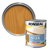 Ronseal Diamond hard Medium oak Matt Wax Wood wax, 0.75L