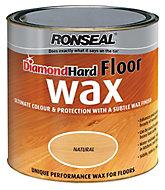 Ronseal Diamond hard Natural Satin Wax Wood wax, 2.5L