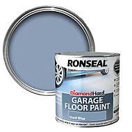 Ronseal Diamond hard Steel blue Satin Garage floor paint, 2.5L