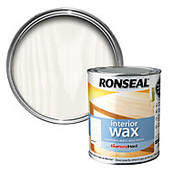 Ronseal Diamond hard White ash Matt Wax Wood wax, 0.75L