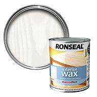 Ronseal Diamond hard White ash Matt Wood wax, 0.75L