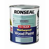 Ronseal Duck egg Satin Wood paint, 0.75