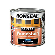 Ronseal Ebony Satin Wood stain, 250ml