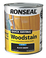 Ronseal Ebony Satin Wood stain, 750ml