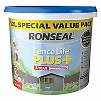 Ronseal Fence life plus Sage Matt Fence & shed Treatment 12L